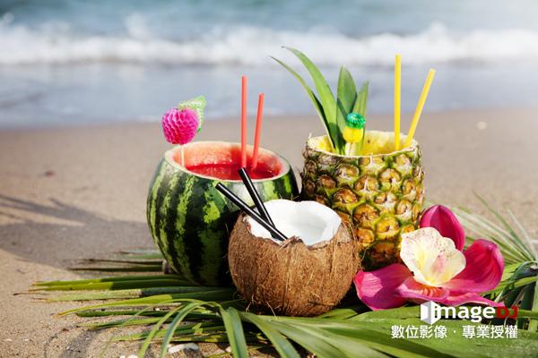 夏季素材圖庫-水果雞尾酒-Stock image Fruit cocktail-典匠資訊imageDJ