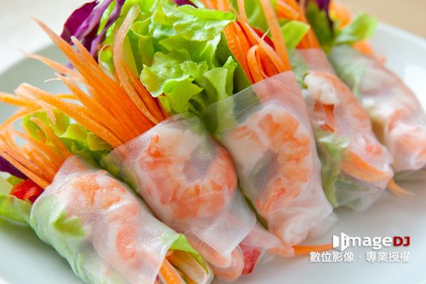 夏季素材圖庫-越南生春捲-Stock image Vietnamese spring rolls-典匠資訊imageDJ