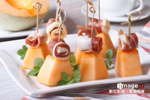 夏季素材圖庫-義大利哈密瓜火腿-Stock image Melon with ham-典匠資訊imageDJ