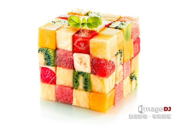 夏季素材圖庫-水果方塊-Stock image Fruit cubes-典匠資訊imageDJ
