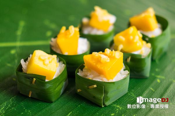 夏季素材圖庫-泰國芒果糯米飯-Stock image Mango Sticky Rice-典匠資訊imageDJ