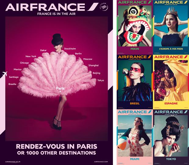 旅行廣告範例N02-航空產業Air France法國航空(imagedj典匠資訊圖庫專業知識分享)