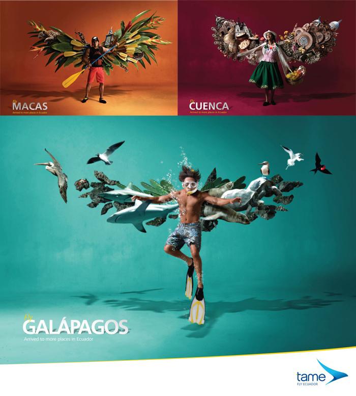 旅行廣告範例N03-航空產業TAME厄瓜多航空(imagedj典匠資訊圖庫專業知識分享)