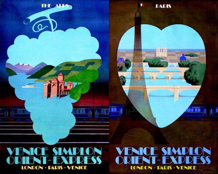 旅行廣告範例N08-交通運輸業Orient Express東方快車(imagedj典匠資訊圖庫專業知識分享)