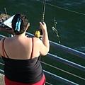 真的釣得到魚耶