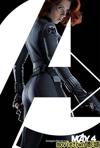 movietown影城《復仇者聯盟》全新8大角色海報+《復仇者聯盟》先行版電影預告片2(圖+新聞+影)07黑寡婦Black Widow Natasha Romanoff (複製).jpg