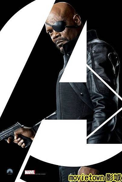 movietown影城《復仇者聯盟》全新8大角色海報+《復仇者聯盟》先行版電影預告片2(圖+新聞+影)08神盾局長 Nick Fury (複製).jpg