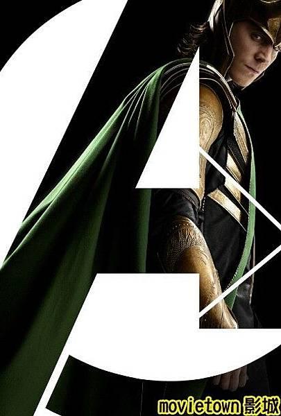 movietown影城《復仇者聯盟》全新8大角色海報+《復仇者聯盟》先行版電影預告片2(圖+新聞+影)09洛基 Loki (複製).jpg