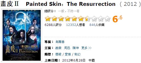 畫皮2轉生術上映滿一周票房過4億,再創華語片在中國大陸票房破四億的最快紀錄!│《画皮2》上映满一周票房过4亿,再创华语片在中国内地过四亿的最快纪录
