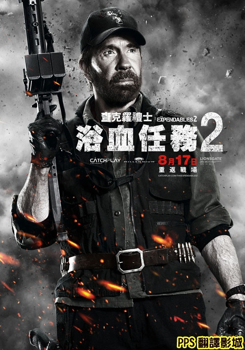 浴血任務2演員│敢死队2演员The Expendables 2-7查克羅禮士 Chuck Norris新