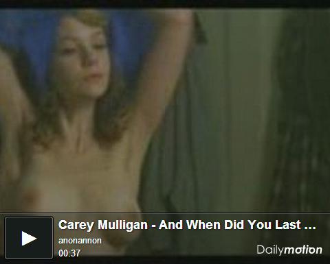 ▼凱莉穆莉根過去在電影中有相當大膽的露點床戲演出naked Carey Mulligan nude sense▼