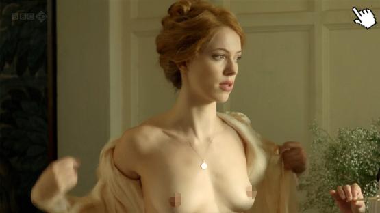蕾貝卡霍爾過去在電影中有大膽露點床戲演出naked rebecca hall nude sex sense