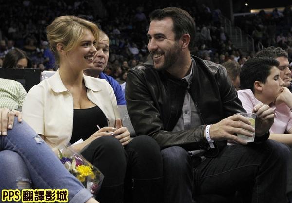 凱特阿普頓男友韋蘭德Supermodel Kate Upton and Detroit Tigers pitcher Justin Verlander attend Magic-Thunder game