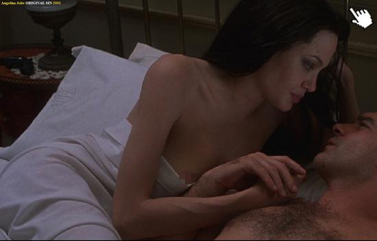 安吉/安潔莉娜裘莉在電影中的大膽露點床戲演出Naked Angelina Jolie nude sex sense