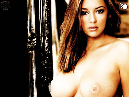 姬莉哈澤爾拍過的大膽露點寫真照片naked Keeley Hazell nude hot pics