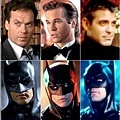 歷任蝙蝠俠:亞當衛斯特、米高基頓、方基墨、喬治克隆尼、克里斯汀貝爾