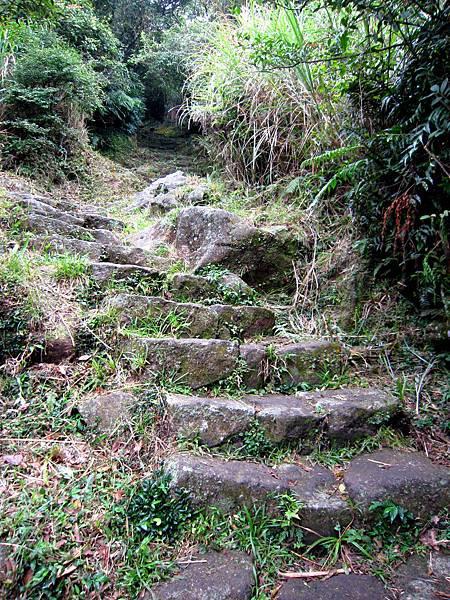往主峰的路崎嶇陡峭