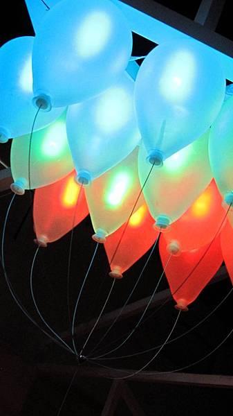 我家一串氣球電燈我應該會有點苦惱