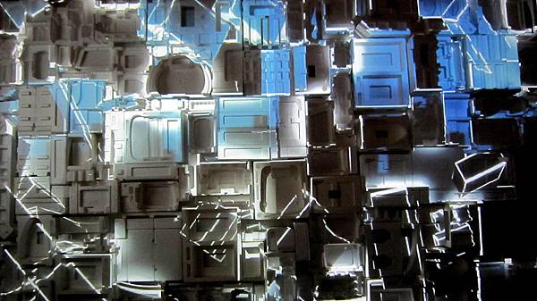 保麗龍呈現的立體投影
