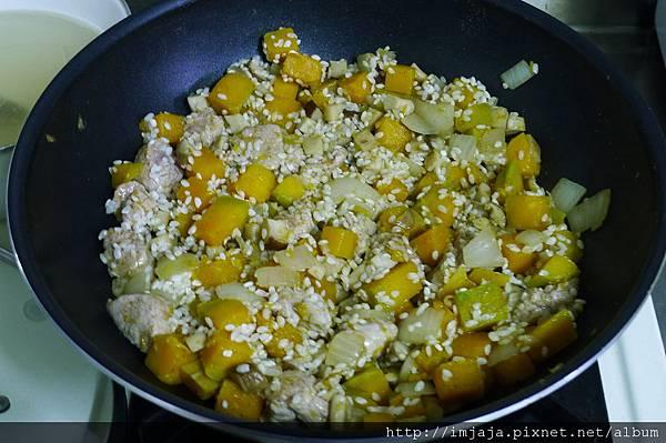 南瓜燉飯-炒米