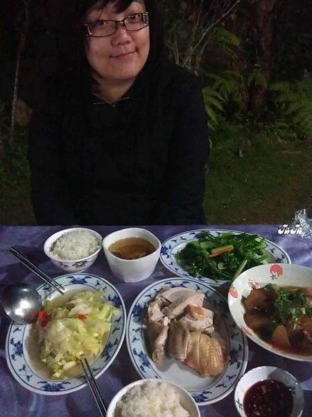 民宿準備的晚餐