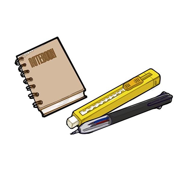 筆&橡皮擦&筆記本