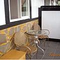 雲海山莊客房外有小陽台可以觀景