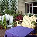 清境星巴克旁的薰衣草專賣店,有可愛的小花園