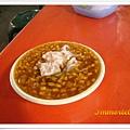 其實就是綠豆仁煮的甜湯,這碗加了芋頭和粉條當配料