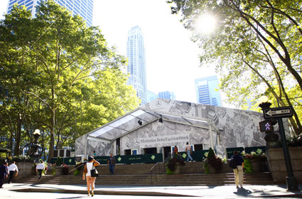 fashion week at Bryant Park