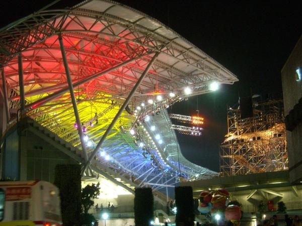 台北田徑場的燈火