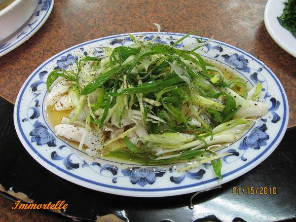 特選菜色-蔥油翻車魚