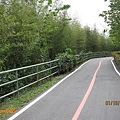 半山腰的自行車道,竹林夾道