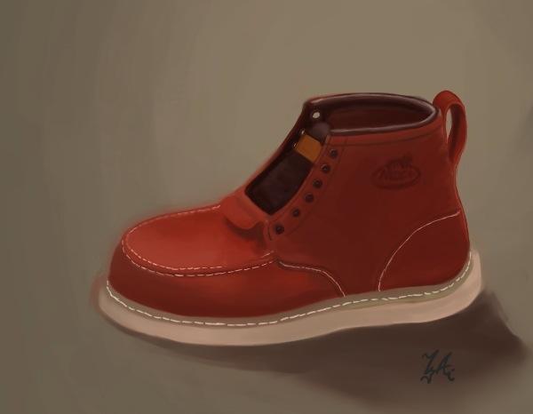 20120611-咆買的第一雙靴子呀~~~