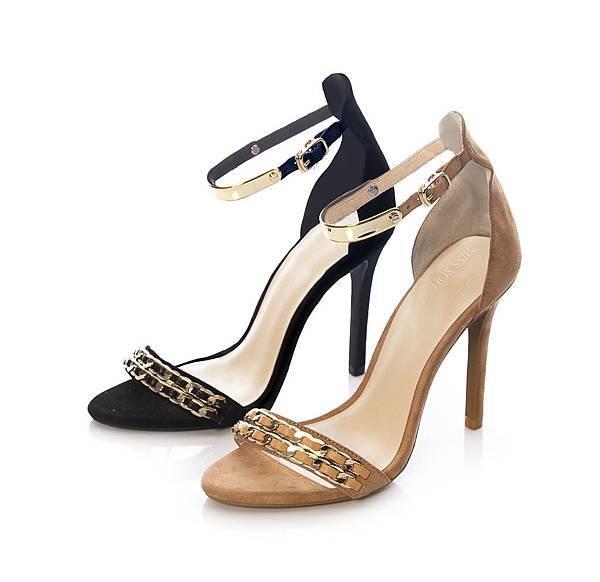 微風之夜推薦款【MISS SOFI x YunYunSun聯名系列】Rosie-羊絨鍊帶高跟鞋,原價$4,280,折扣後$3,630