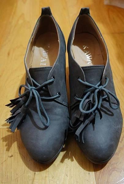 KAWAI流蘇高跟踝靴