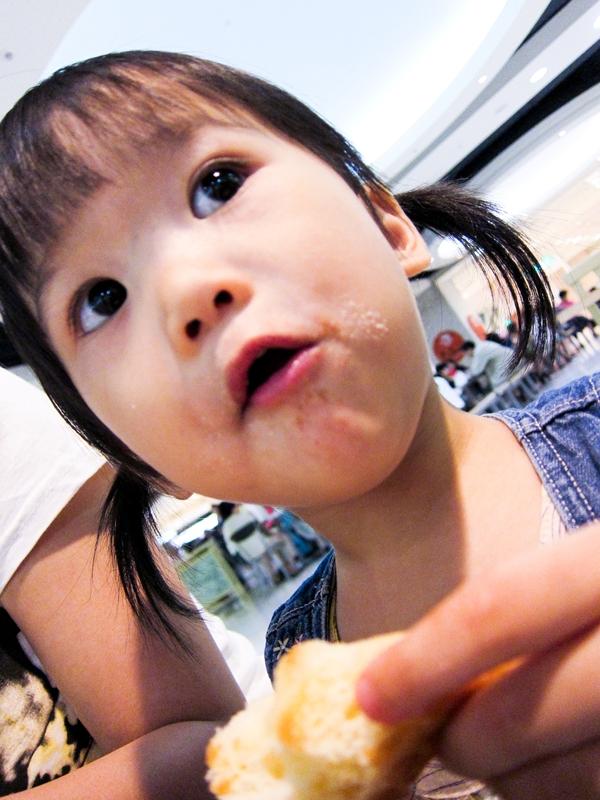 台南 新光三越 小寶跟爸爸吃甜甜