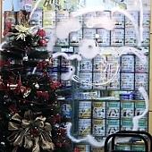 29.重要的是他在牆面上繪製了可愛的聖誕公公