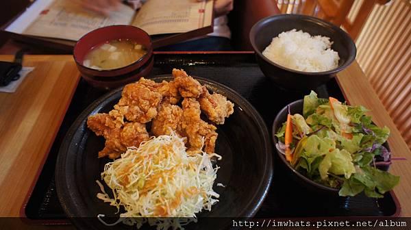 博多yamaya明太風炸雞塊定食.JPG