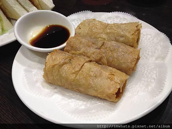 金鐘香港茶餐廳腐竹鮮蝦捲.JPG