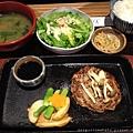 YAYOI鐵板照燒漢堡肉定食.JPG