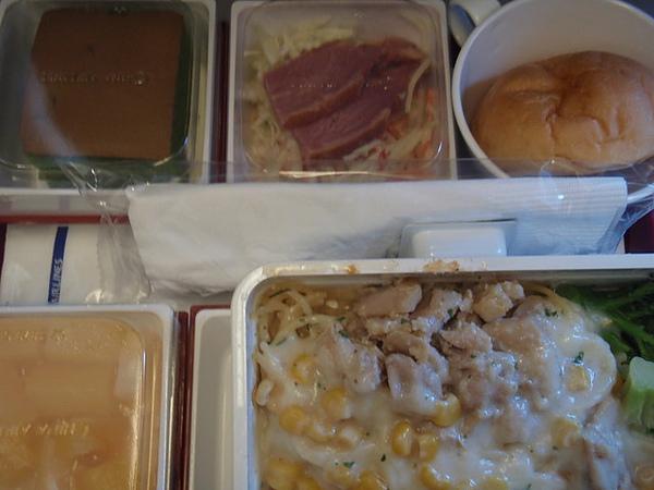 去程飛機餐