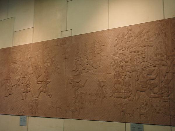 入境大廳牆上的浮雕