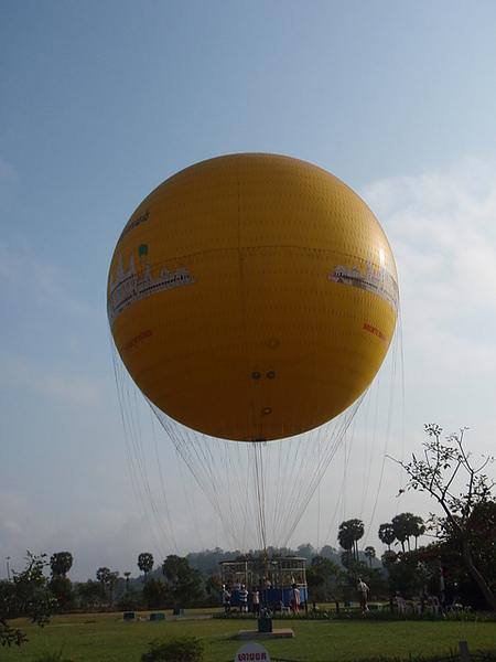 第三天一大早的熱氣球