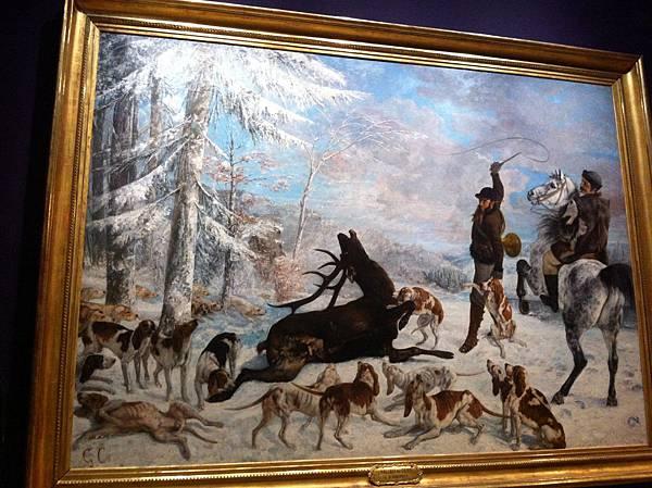 「麋鹿之死」,堪稱奧賽美術館我最喜歡的畫作之一
