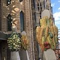 麥穗與果實象徵豐收