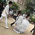 從日本遠道而來拍婚紗的夫妻