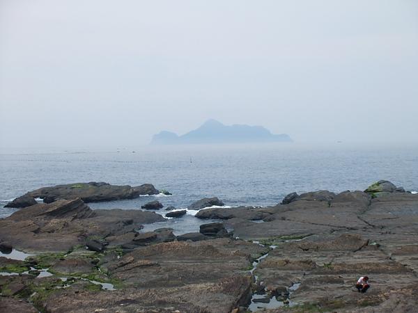 吃飯的餐廳可以看到龜山島