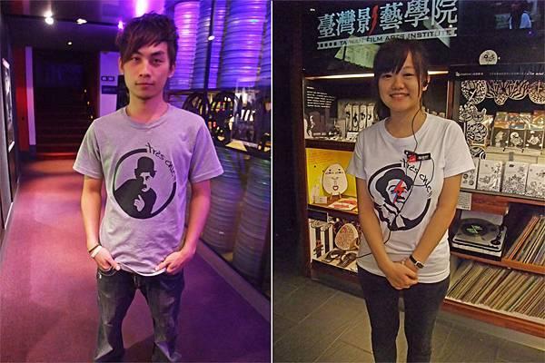 兩款T恤 灰色 VS 白色