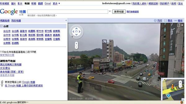 警察偷拍被google map抓包